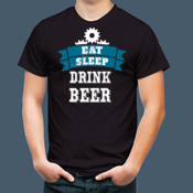 Eat-Sleep-Drink Beer - Adult Heavy Cotton T