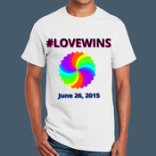 #LOVEWINS Rainbow Swirl - Adult Ultra Cotton T