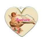 Porcelain Heart Ornament
